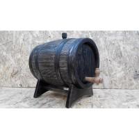 Бочка дубовая 5 литров Кавказский дуб, под старину, обработка воском