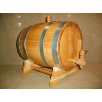 Бочка дубовая 5 литров Кавказский дуб, обработка воском