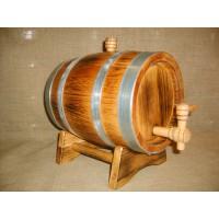 Бочка дубовая 5 литров Кавказский дуб, обработка воском, внешний обжиг
