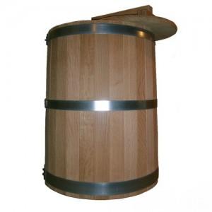 Кадка дубовая 35 литров, обручи из оцинкованной стали