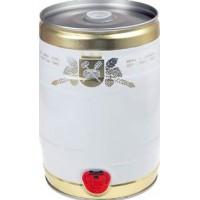 Бочонок (кег) для дображивания и розлива, белый-золото, 5 литров