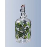 """Бутылка """"Венеция"""" 2 литра, с бугельной пробкой с рисунком"""