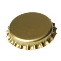 Кронен-пробки для стеклянных бутылок, пивная (золотая), 100шт